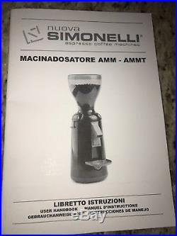 Nuova Simonelli Grinta Coffee Espresso Burr Grinder Chrome