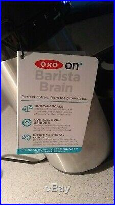 OXO BREW Conical Burr Coffee Grinder with Integrated Scale