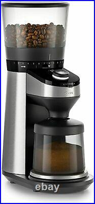 OXO BREW Conical Burr Coffee Grinder with Integrated Scale, Silver, Burr Grinder