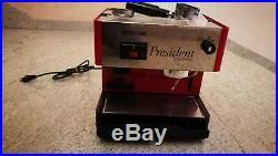 President kaffeemaschine + kaffeemühle Espresso Coffee Burr grinder Tassen