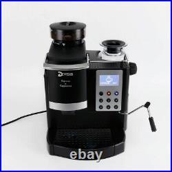 Professional Espresso Coffee Machine Maker burr Grinder Milk Warmer All In One