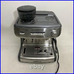 Professional Espresso Machine with Burr Coffee Grinder Cafe Calphalon Temp iQ