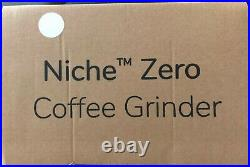 Pure White Niche Zero US Coffee Grinder (White, Brand New, Grinder In Hand)