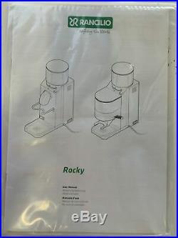 Rancilio HSD-ROC-SD Rocky Doserless 50mm Flat Steel Burr Coffee Grinder USED