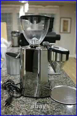 Rocket Fausto Italian Espresso Coffee Grinder 65MM Burrs Digital Timer Chrome