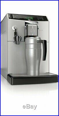 Saeco Minuto 1 Touch Super-Automatic Silver Espresso Machine LCD Macchiato Drip