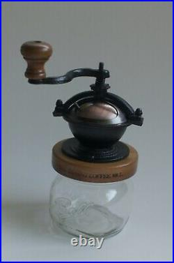 The Camano Coffee Mill cast iron grinder mason jar hand crank steampunk hipster